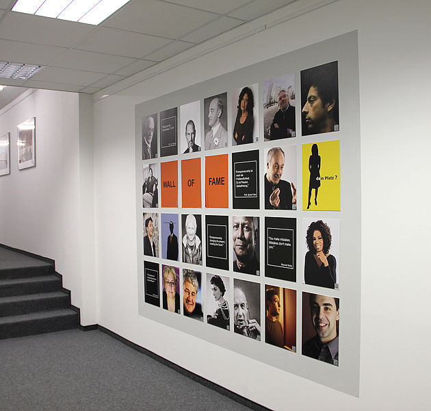 Center Wall of Fame (Copyright: Entrepreneurship Center)